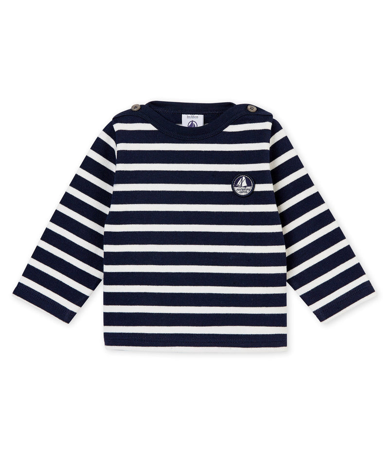 Petit Bateau Tops + Bodysuits 3m Baby Iconic Sailor Top