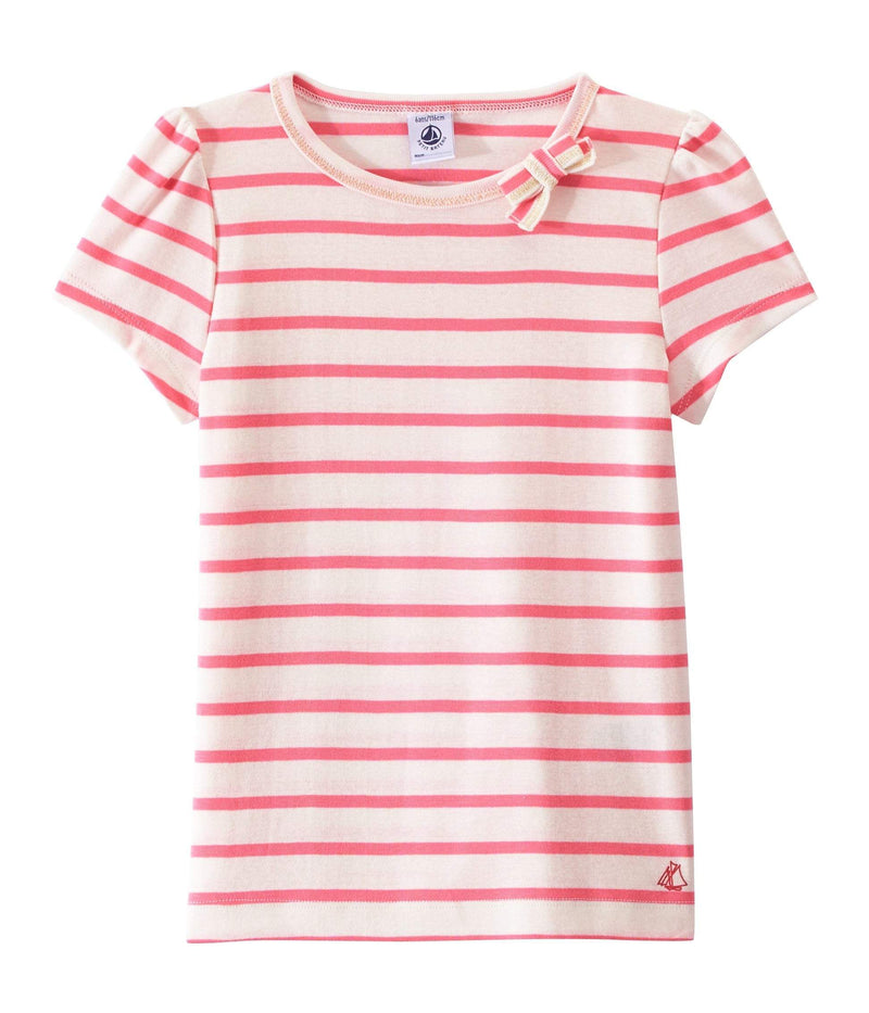 Petit Bateau Tops + Bodysuits 3y T-Shirt with a Little Bow - 3y