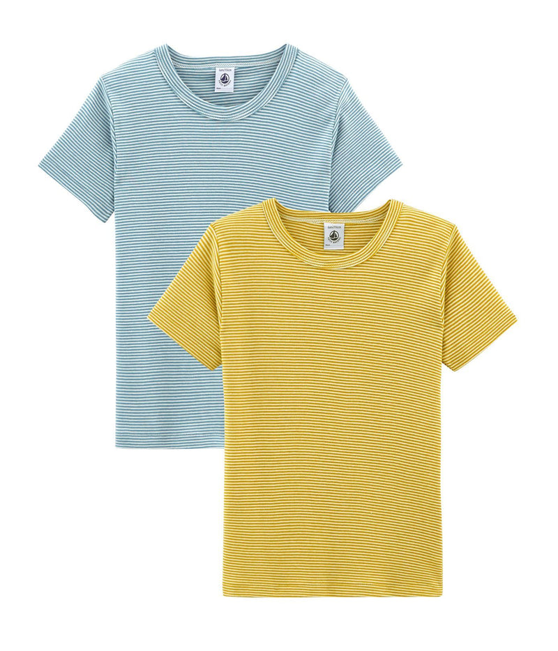 Petit Bateau Underwear 4y Boys' Short-sleeved T-shirt - Set of 2