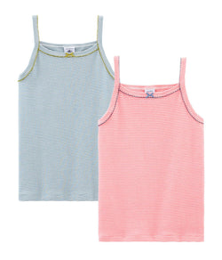 Petit Bateau Underwear 4y Girl's Strap Tank Top Set of 2
