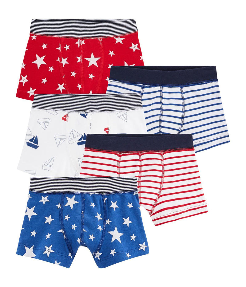 Petit Bateau Underwear 8y Boys' Boxer Shorts - Set of 5