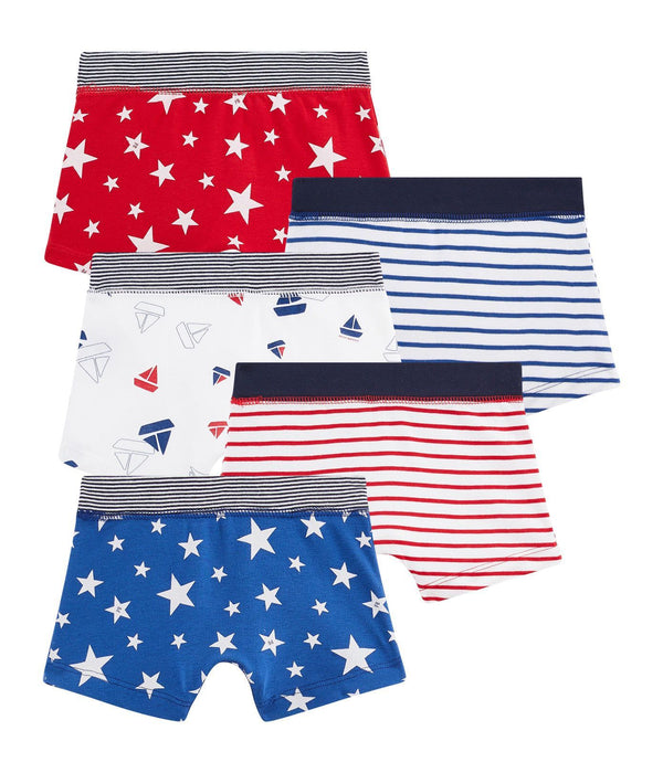 Petit Bateau Underwear Boys' Boxer Shorts - Set of 5