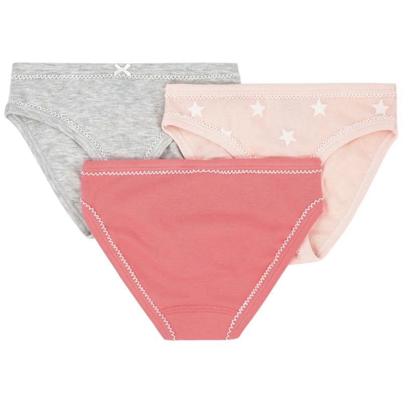 Petit Bateau Underwear Girls' Briefs - 3-Piece Set