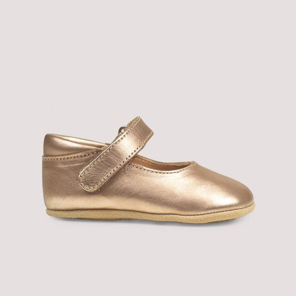 Petit Nord Shoes Ballerina Velcro Shoe - Champagne