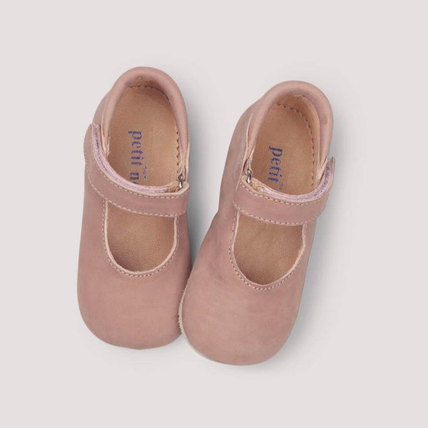 Petit Nord Shoes Ballerina Velcro Shoe - Old Rose