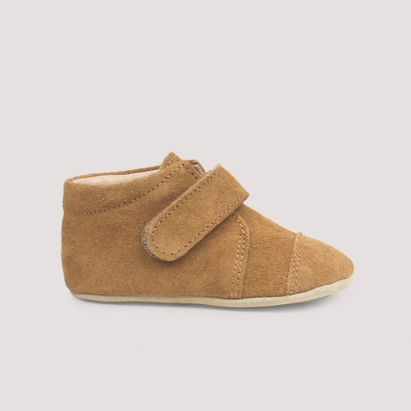 Petit Nord Shoes Closed Velcro Shoe - Amber Suede