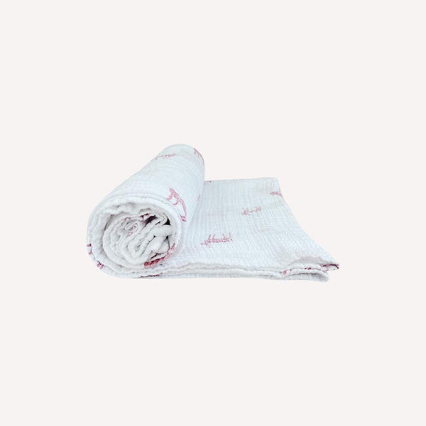 Petit pehr Blankets OS / Preloved Re-Cycle Patterned White Blanket