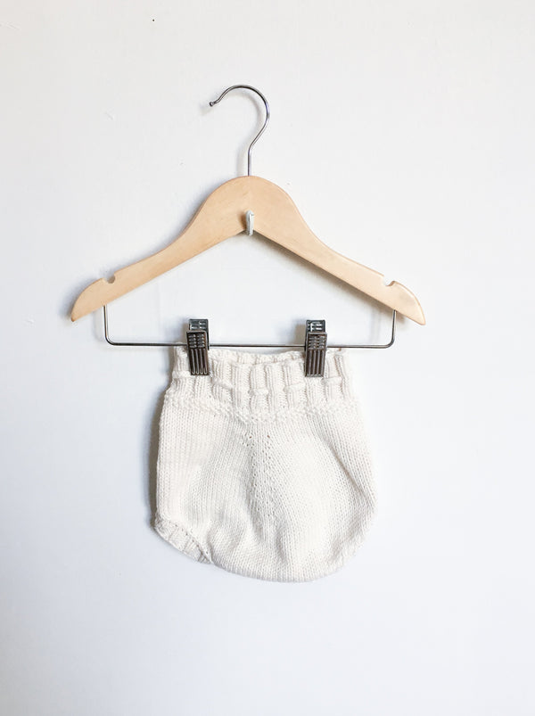 Petite Lou Bottoms 3-6m / Gently Used Re-Cycle Cream Knit Bloomers
