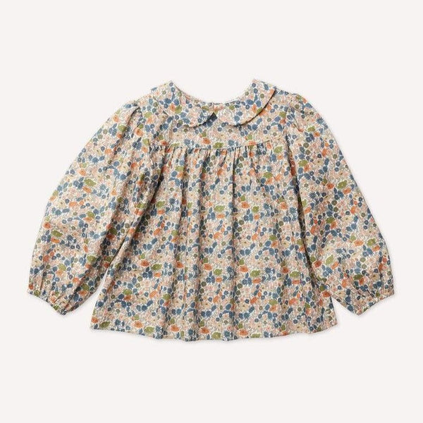 Petits Vilains Blouse Esther Peter Pan Blouse - Poppy Forest