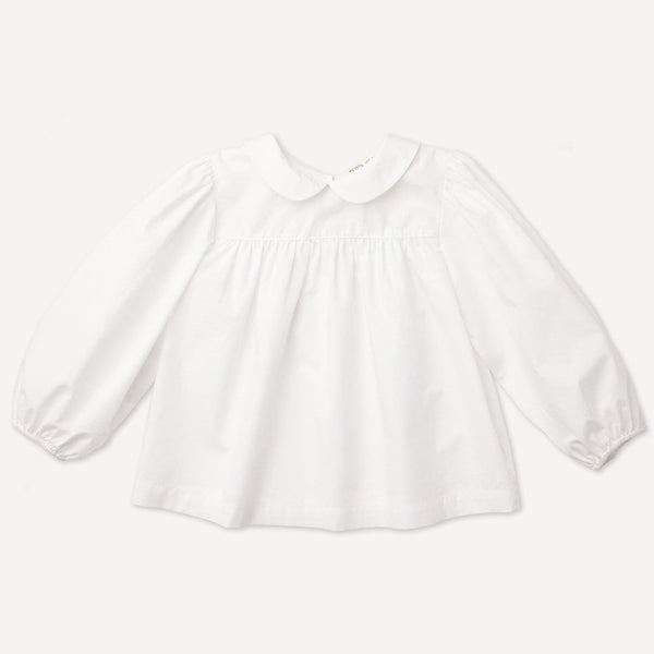 Petits Vilains Blouse Esther Peter Pan Blouse - White