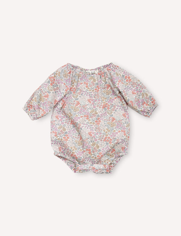 Petits Vilains Bodysuit Olympia Playsuit - Sweet May Blush