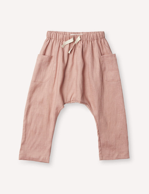 Petits Vilains Bottoms 12/18 Blaise Harem Trousers - Tea Rose