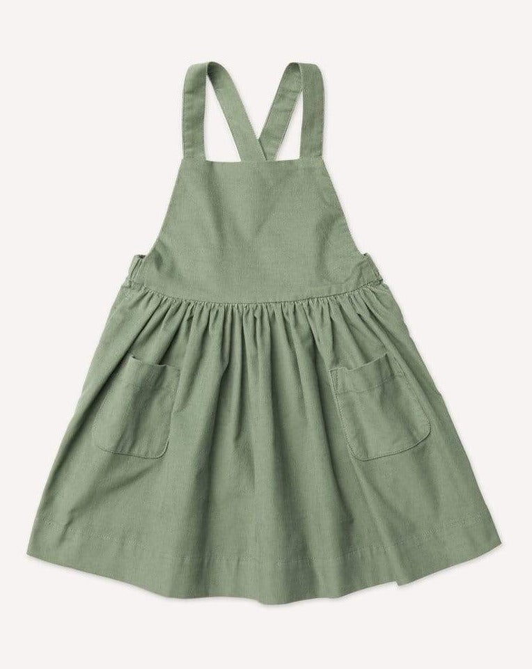 Petits Vilains Dress Ines Pinafore Dress - Lichen