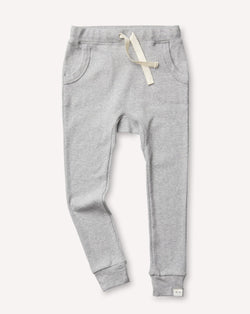 Petits Vilains Pants Louie Harem Pant - Heather Grey
