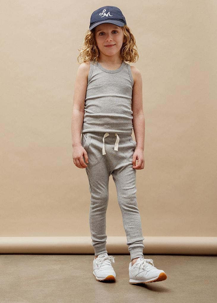 Petits Vilains Pants Louie Slim Jogger - Heather Grey
