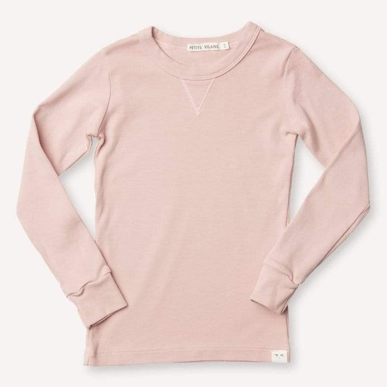 Dominique Long-Sleeve Crew - Dusty Pink