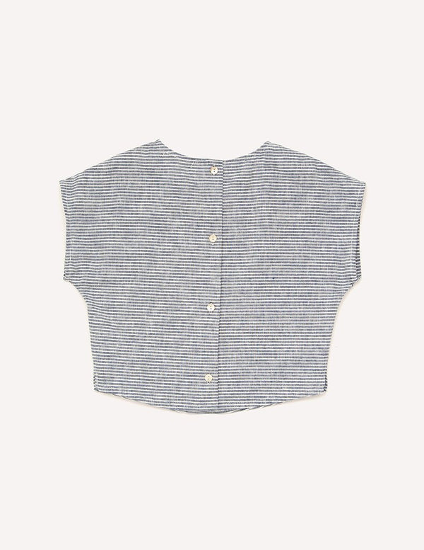 Petits Vilains Tops + Bodysuits 18/24 Lou Shell Top - Stripe