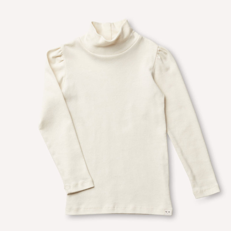 Petits Vilains Turtleneck Clémence Puff-Sleeve Turtleneck - Cream