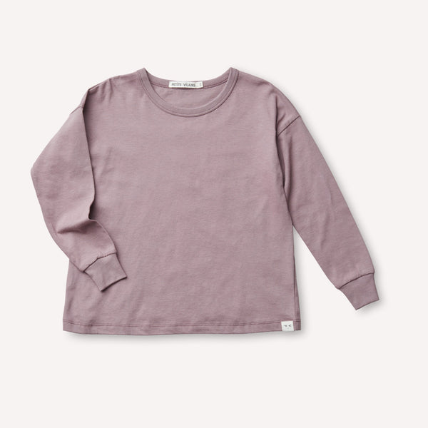 Petits Vilains Turtleneck Felix Drop Shoulder Crew - Mauve