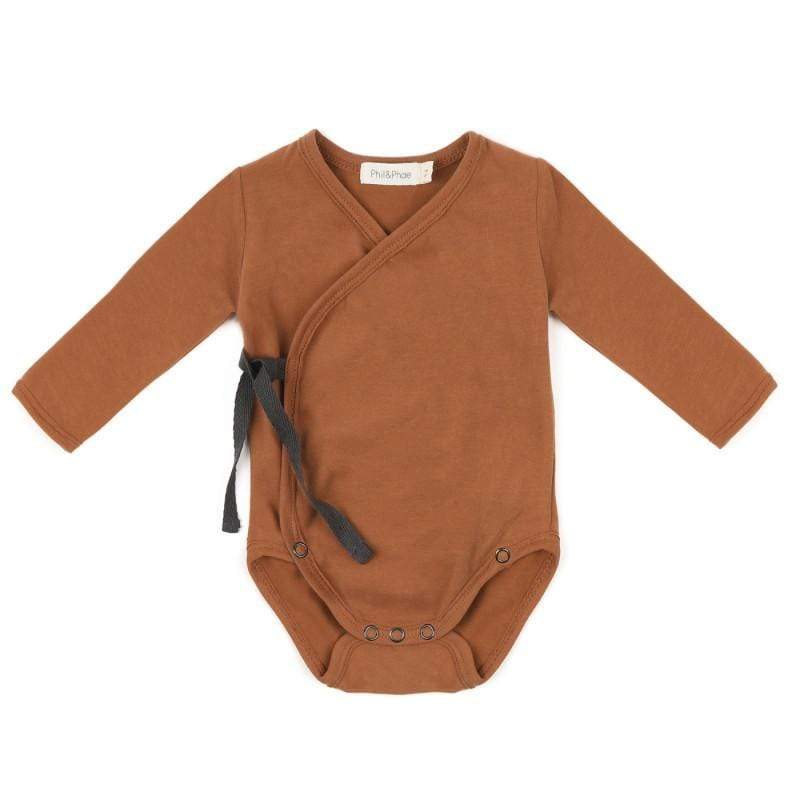 Phil & Phae Bodysuit Cross-over body l/s - Hazel