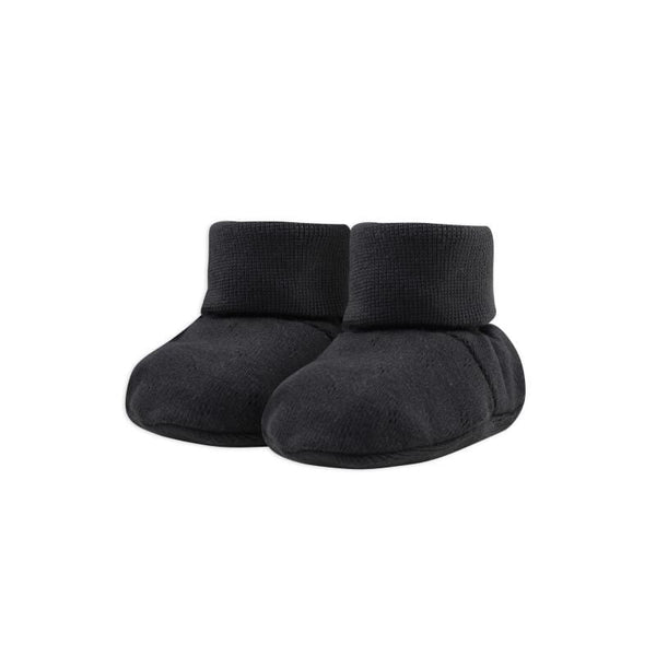Phil & Phae Booties Baby Booties Pointelle - Charcoal