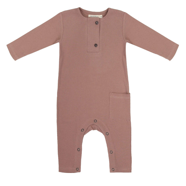 Phil & Phae Jumpsuit Rib henley jumpsuit l/s - powder