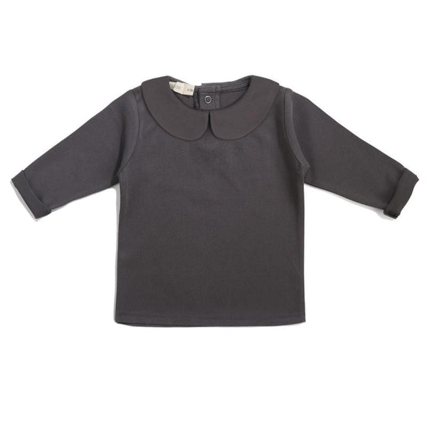 Phil & Phae T-Shirt Baby collar tee - Graphite