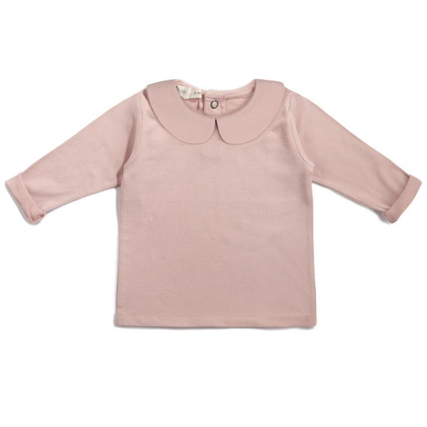 Phil & Phae T-Shirt Baby collar tee - Vintage blush