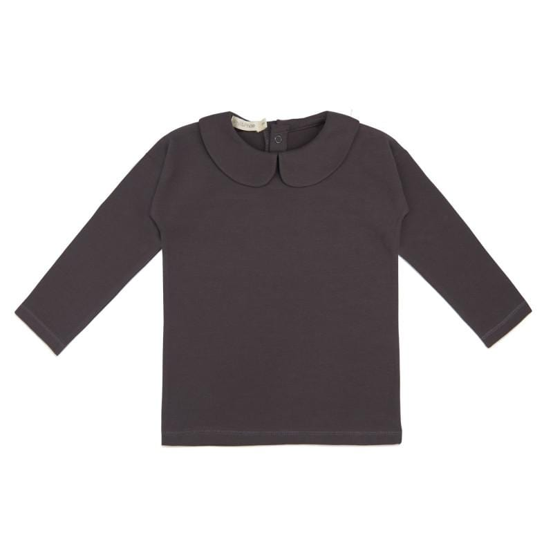 Phil & Phae T-Shirt Collar tee l/s - Graphite