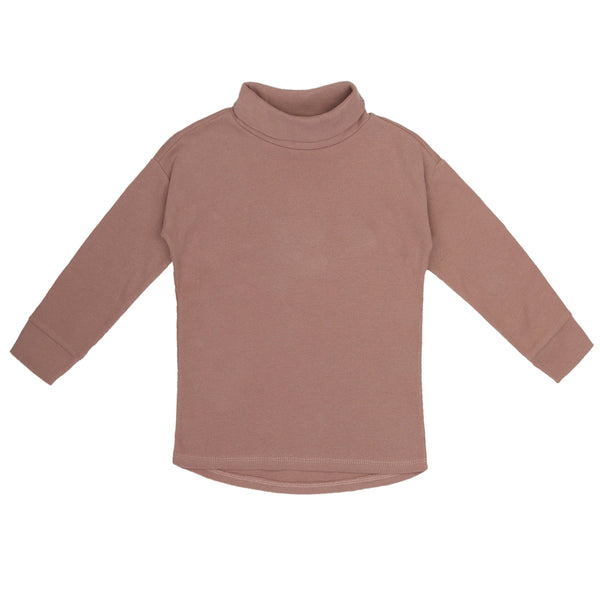 Phil & Phae T-shirt Rib turtleneck tee l/s - powder