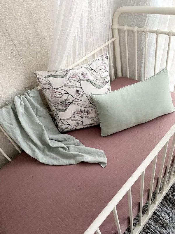 Pop Ya Tot Bedding One Size Mauve It! Muslin Crib Sheets