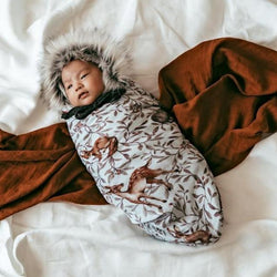 Pop Ya Tot Swaddle Blanket One Size Creature of the Woods Swaddle