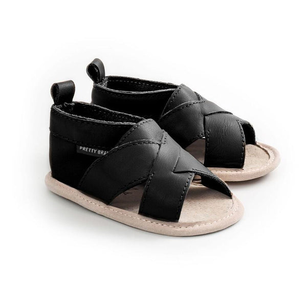 Pretty Brave Footwear CROSS-OVER SANDAL BLACK (RESCUES)