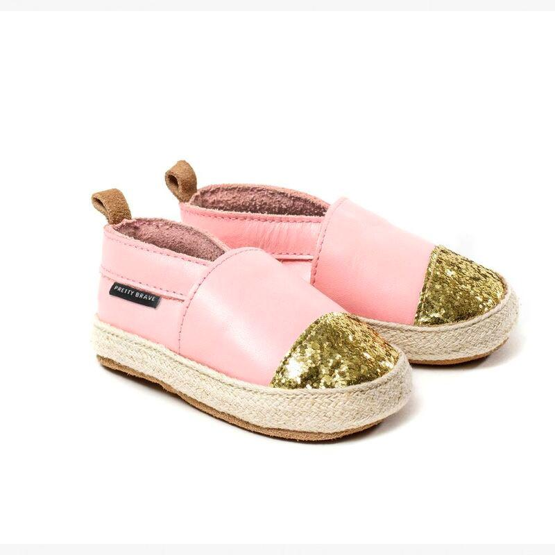 Pretty Brave Shoes Espadrille Soft Pink With Glitter Toe (Rescues)