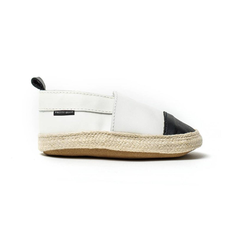 Pretty Brave Shoes L Espadrille White With Black Toe (Rescues)