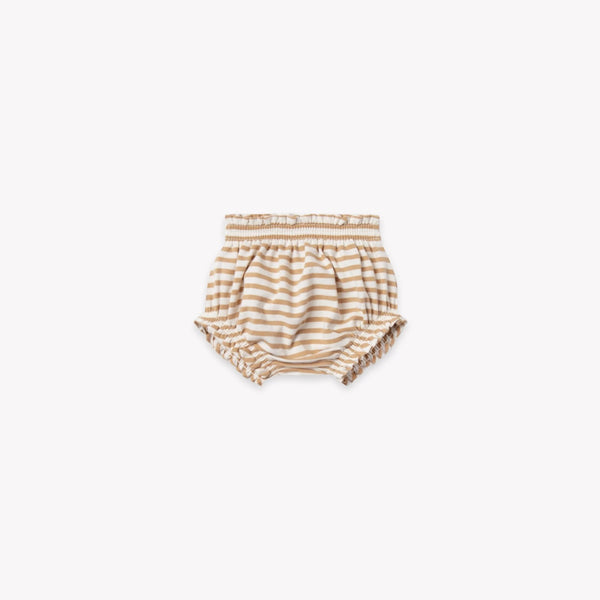 Quincy Mae Bloomers Gathered Bloomer - Honey Stripe