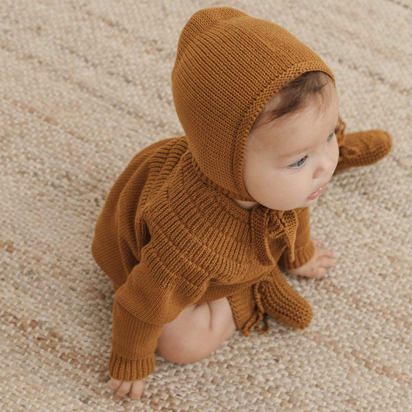 Quincy Mae Bonnet Knit Bonnet - Walnut
