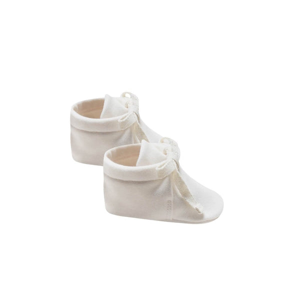 Quincy Mae Booties Baby Booties - Ivory