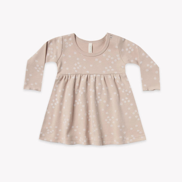 Quincy Mae Dress Long Sleeve Baby Dress - Rose