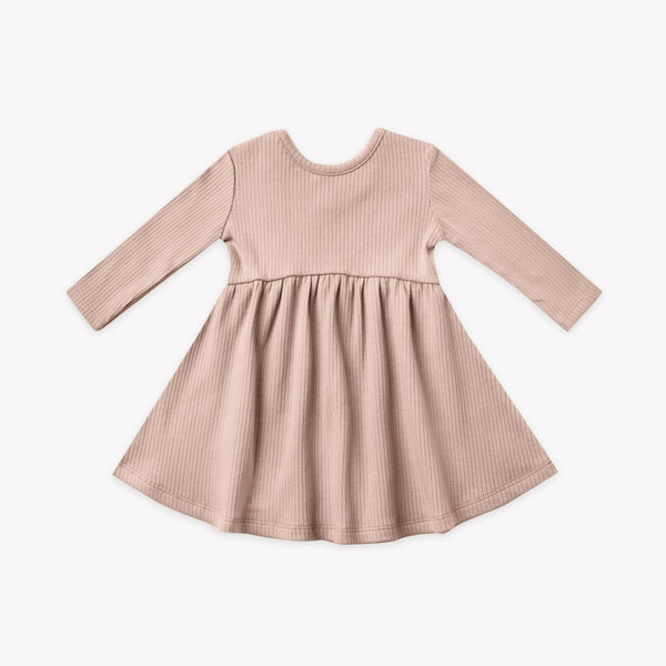 Ribbed Longsleeve Dress - Petal