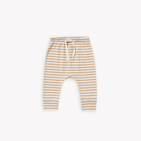 Quincy Mae Pants Drawstring Pant - Honey Stripe