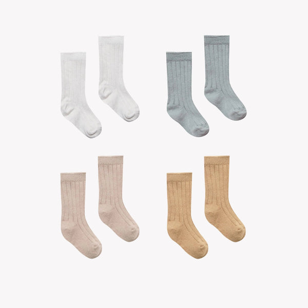 Quincy Mae Socks Baby Socks - Ivory, Dusty Blue, Rose, Honey