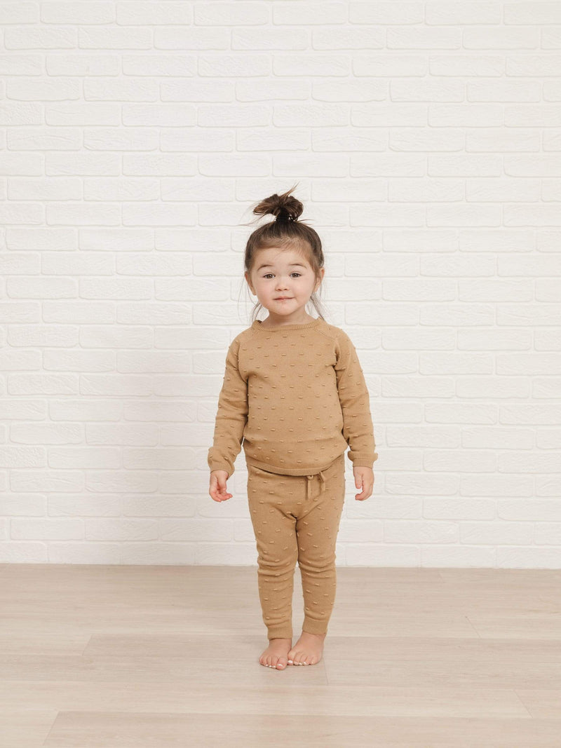 Quincy Mae Sweater Bailey Knit Sweater - Honey