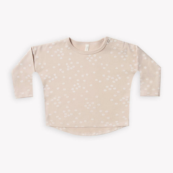 Quincy Mae T-Shirt Long Sleeve Baby Tee - Rose