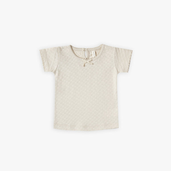 Pointelle Tee - Natural