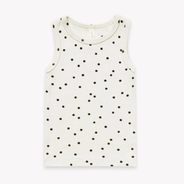 Quincy Mae Tank Top 2-3y Ribbed Tank - Pebble