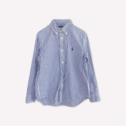 Ralph Lauren Shirt 5y / Preloved Re-Cycle Striped Blue Shirt
