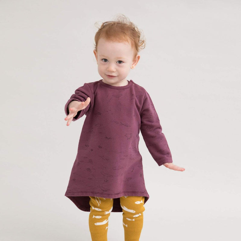 Red Caribou Dress The Story French Terry Dress - Plum Wine