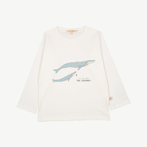 Red Caribou Long-Sleeve Tee The Journey T-Shirt - Eco White