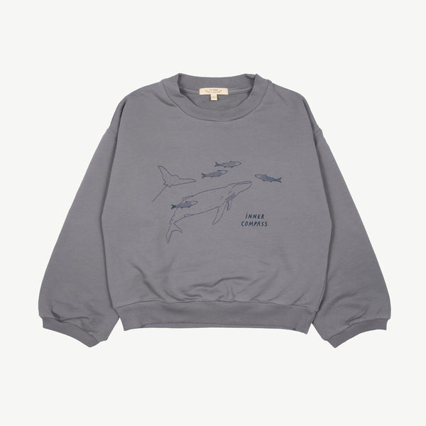 Red Caribou Sweatshirt Inner Compass Sweatshirt - Charcoal Grey